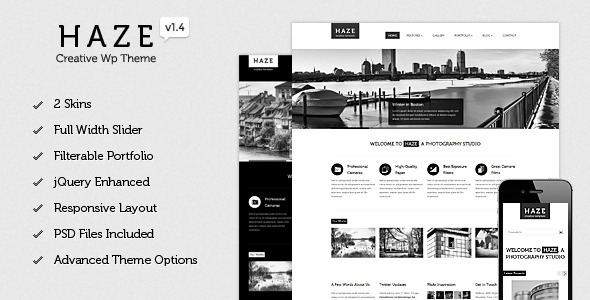 Haze – Beautiful WordPress Theme
