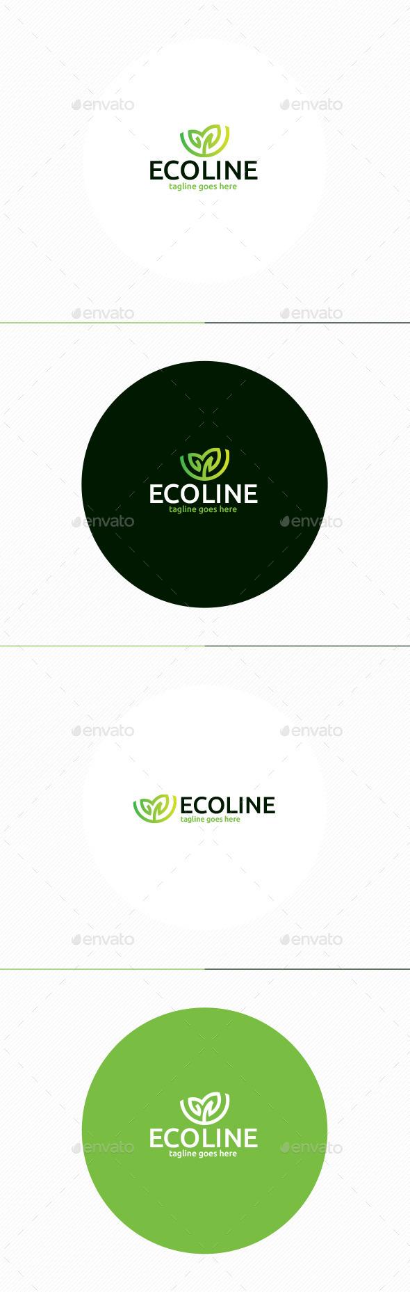Eco Line Logo - Nature Logo Templates