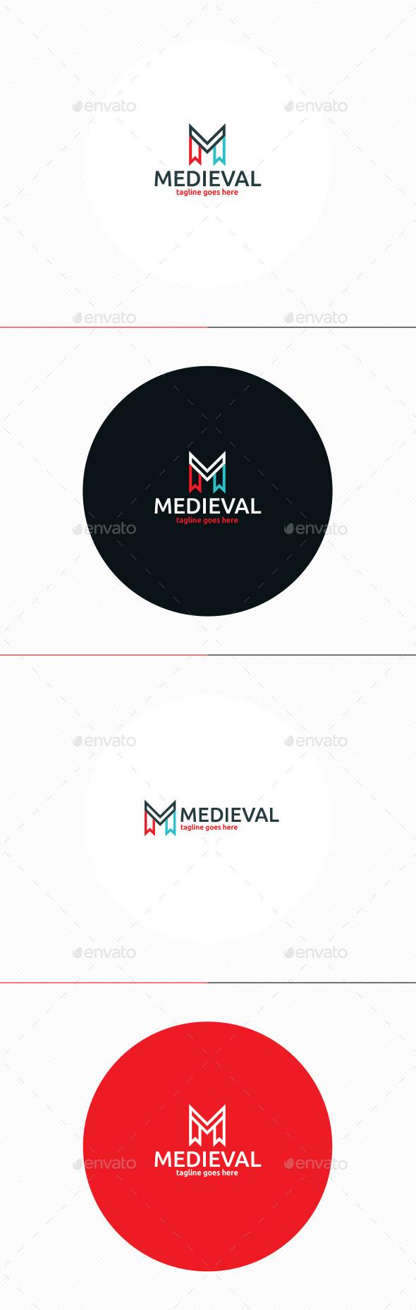 Medieval Logo • Letter M - Letters Logo Templates