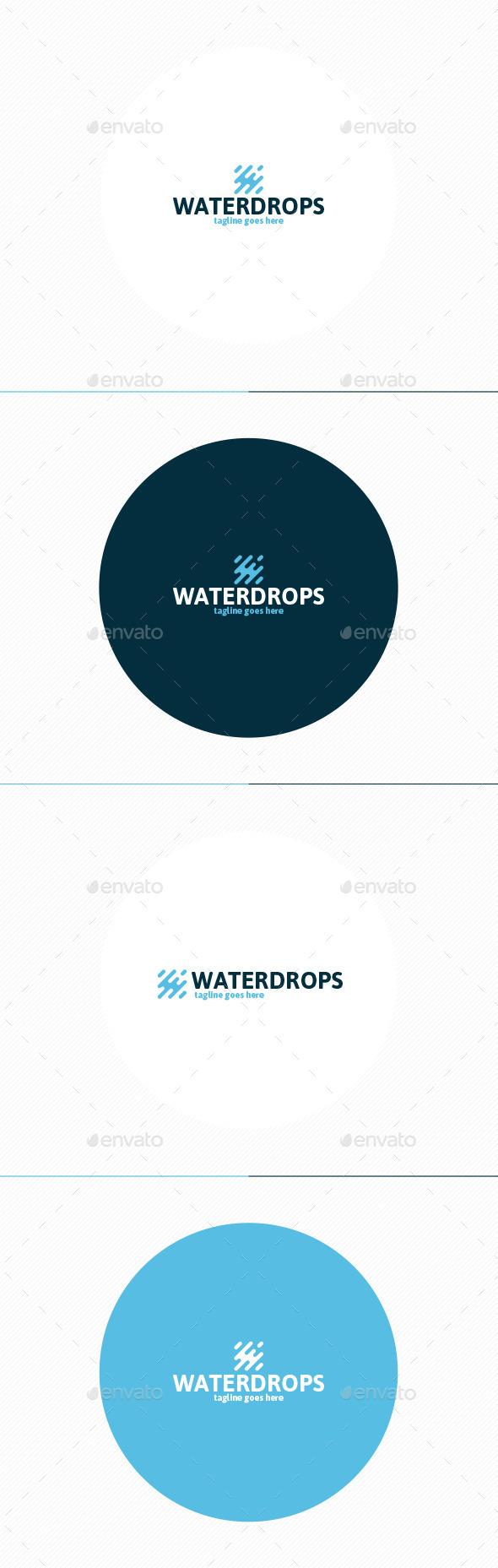Water Drops Logo - Vector Abstract