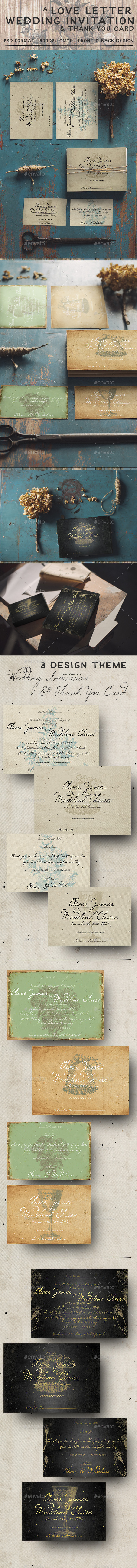 Love Letter Wedding Invitation - Weddings Cards & Invites