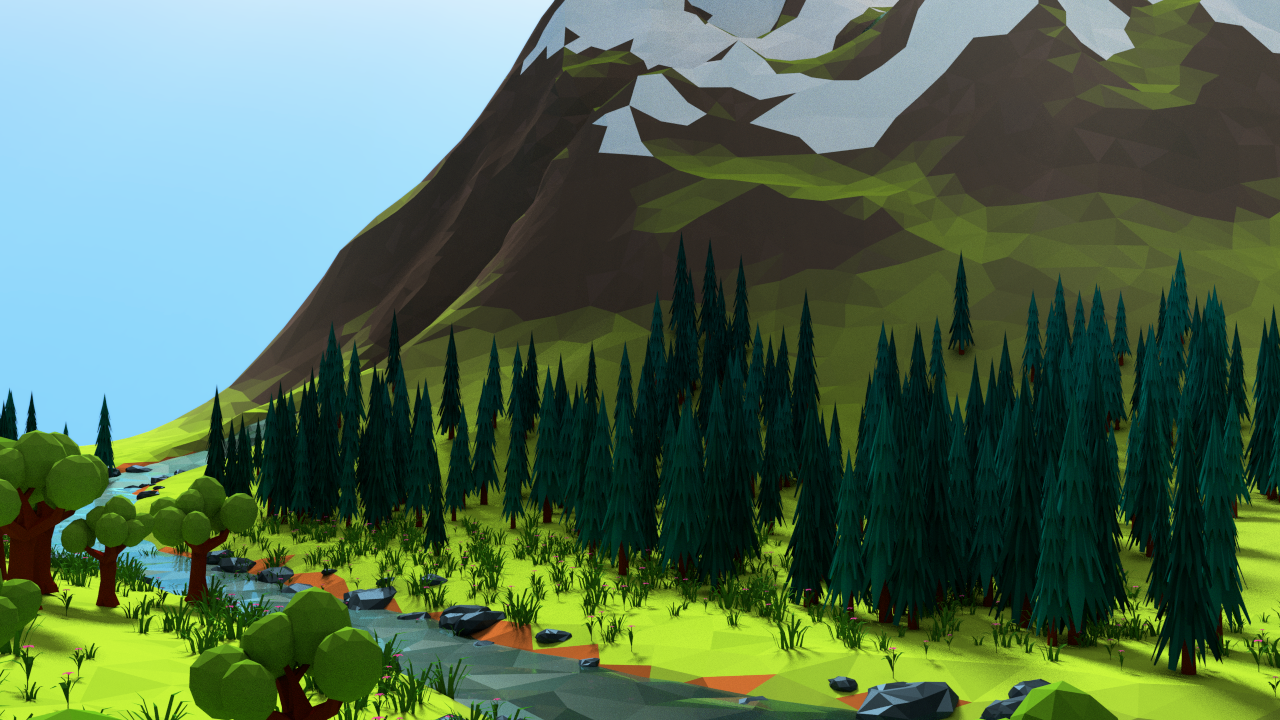 Low Poly Landscape By Motion Boy 3docean