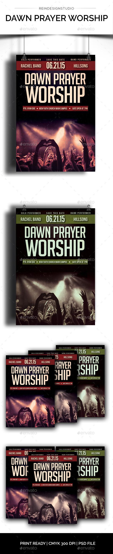 Dawn Prayer - Church Flyers