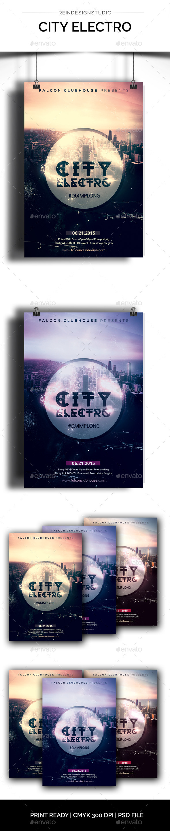 City Electro - Events Flyers