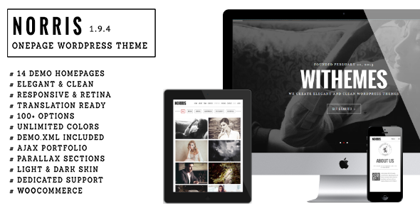 Norris – Elegant Onepage WordPress Theme