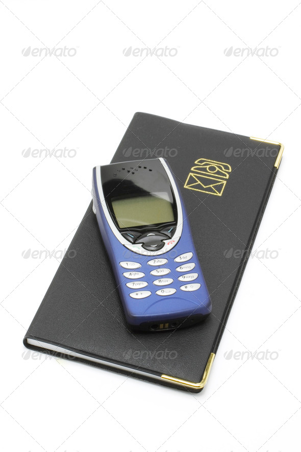 Mobile Phone and Notebook - Stock Photo - Images