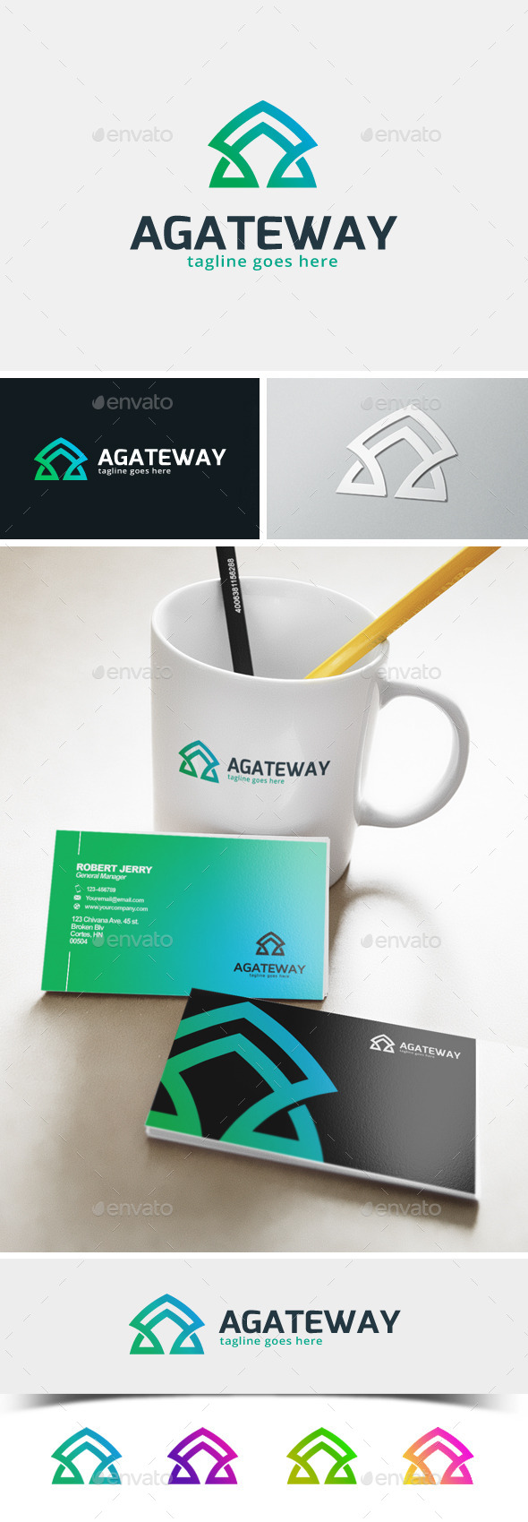 Agateway - Letter A logo - Abstract Logo Templates