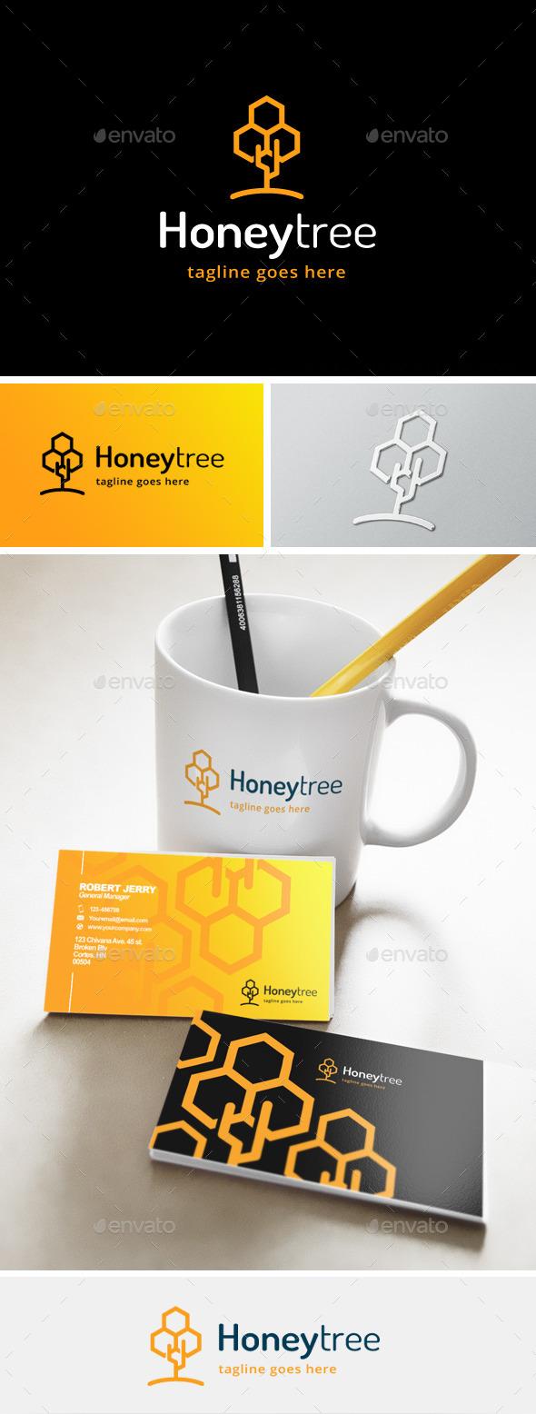 Honey Tree Logo - Nature Logo Templates