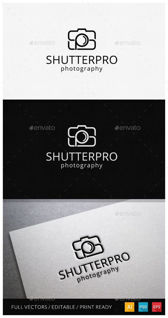 Initial Photography Logo - Letters Logo Templates