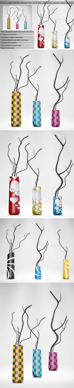 Vase with Sticks Mockup Kit - Miscellaneous Print