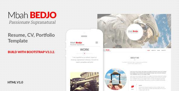 Bedjo – Resume, CV, Portfolio Template