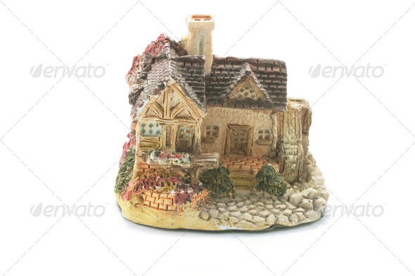 Cottage Figurine - Stock Photo - Images