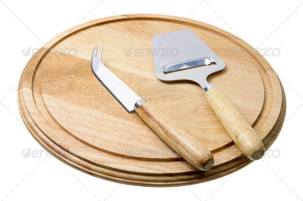 Cheese Knife and Cutting Board - Stock Photo - Images