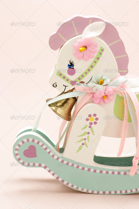 Miniature Rocking Horse - Stock Photo - Images