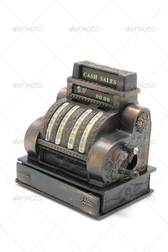 Miniature Cash Register - Stock Photo - Images