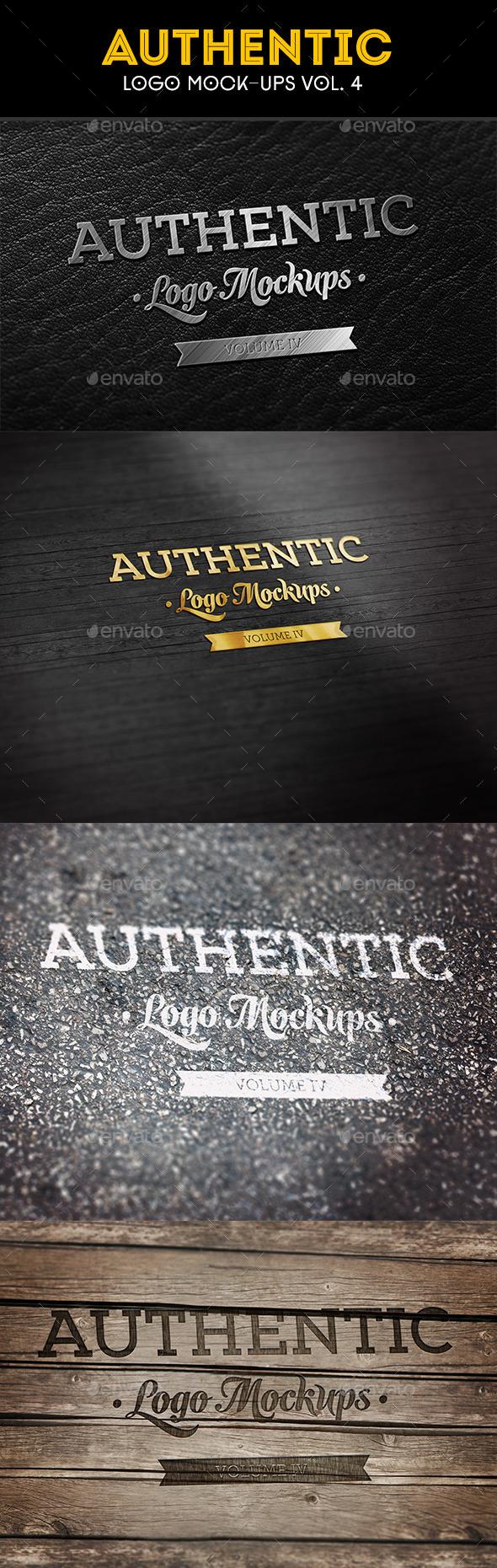 Authentic Logo Mockups Vol. 4 - Logo Product Mock-Ups