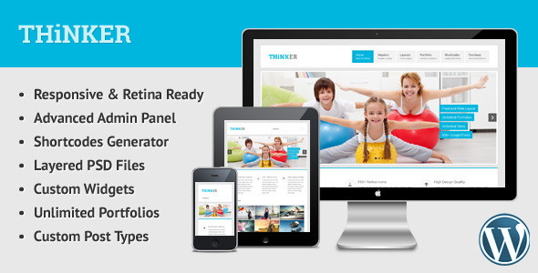 Thinker – Retina Responsive Multipurpose WP Theme