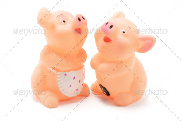 Toy Pigs - Stock Photo - Images