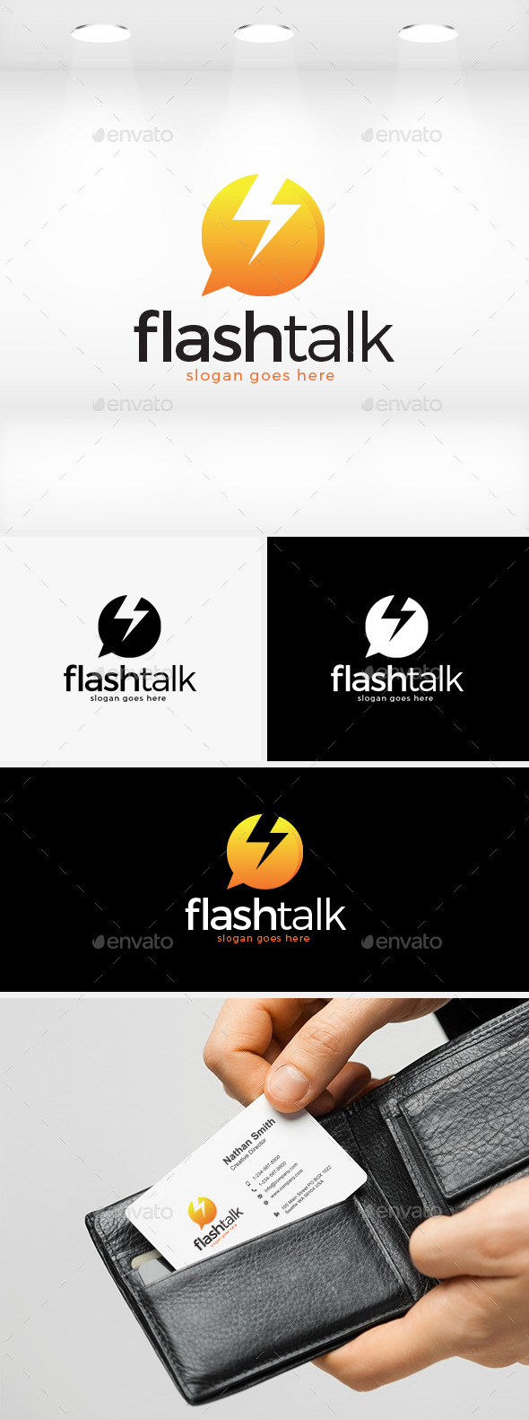 Flash Talk Logo - Symbols Logo Templates
