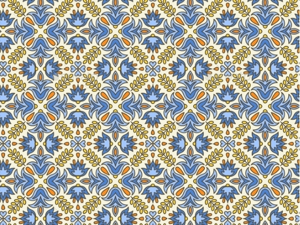 Mediterranean Traditional Floral Decor.  - Patterns Decorative