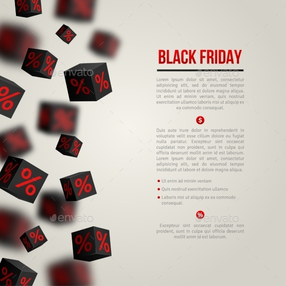 Black Friday Sale Poster. Vector Illustration.  - Commercial / Shopping Conceptual