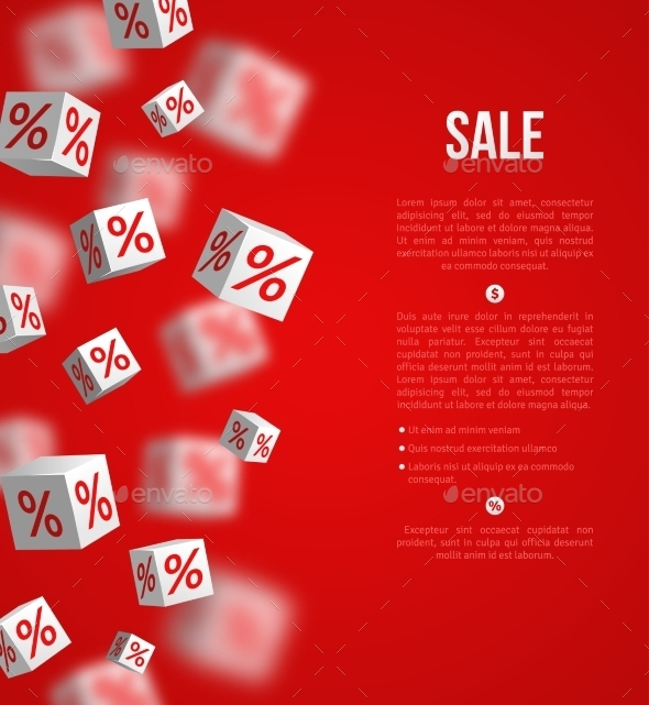 Sale Poster. Vector Illustration. Design Template - Commercial / Shopping Conceptual