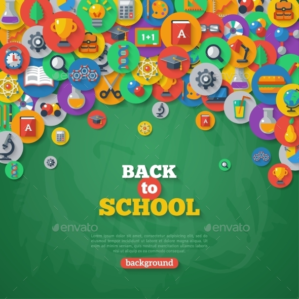 Back To School Background. Vector Illustration. - Miscellaneous Conceptual