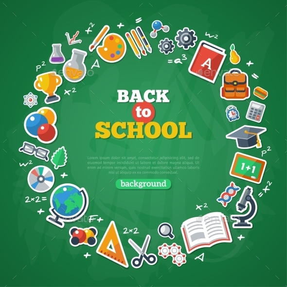 Back To School Frame. Vector Illustration.  - Miscellaneous Conceptual