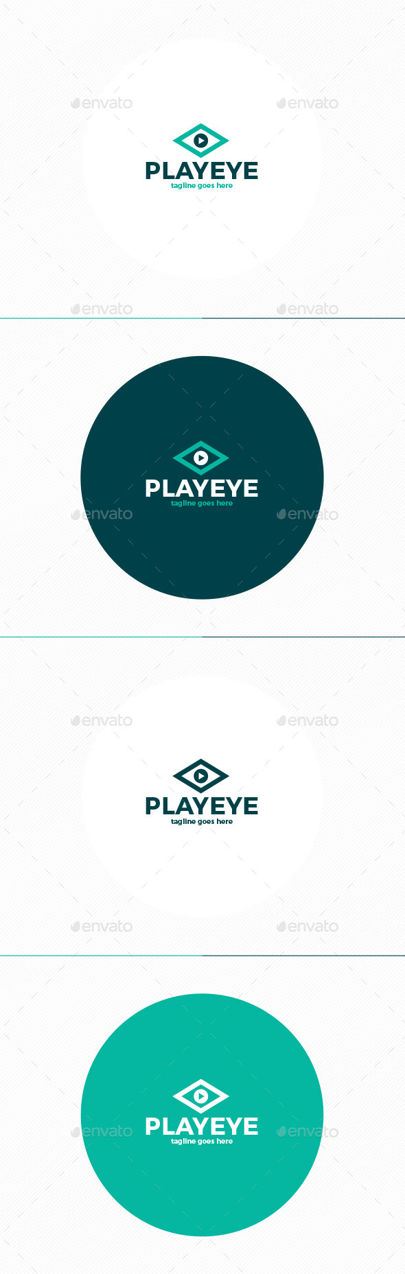 Play Eye Logo - Vector Abstract