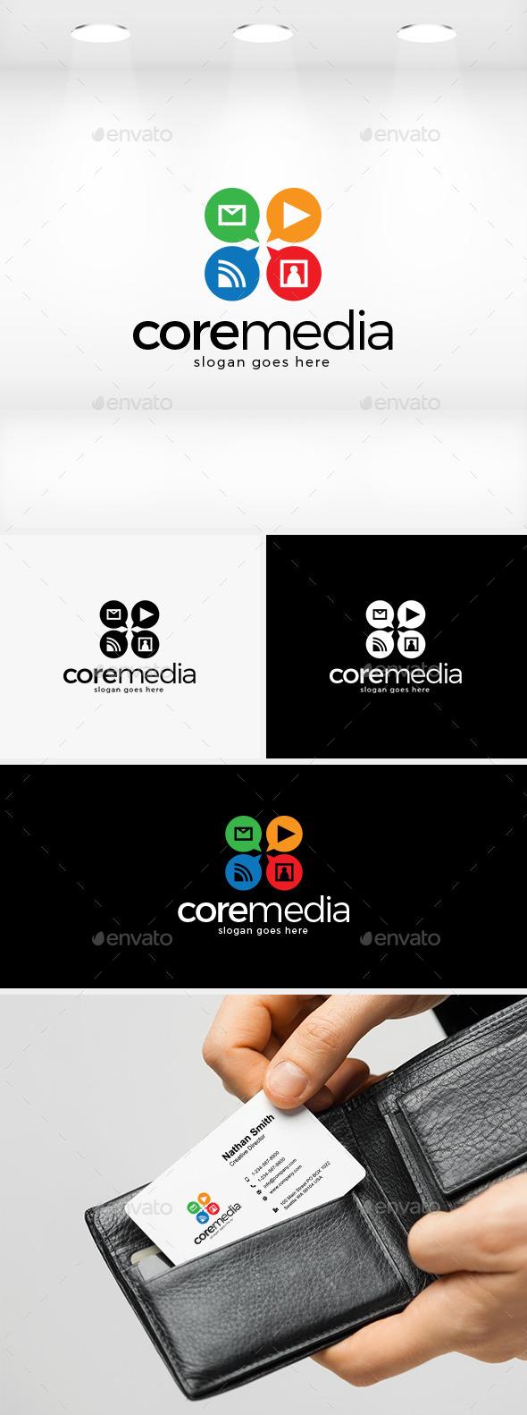 Core Media Logo - Symbols Logo Templates
