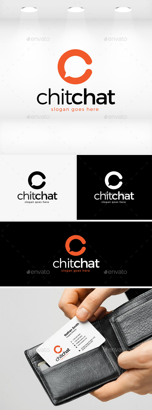 Chit Chat Logo - Letters Logo Templates
