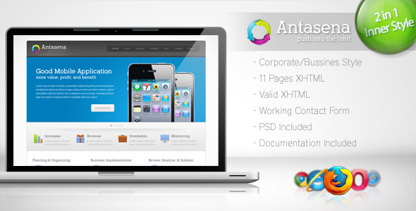 Free Download Antasena - Corporate Business Template 4 Nulled Latest Version