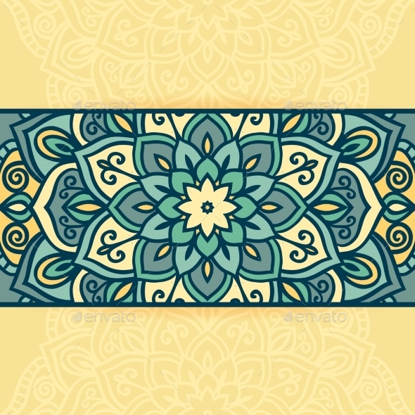Abstract Round Ornamental  - Decorative Vectors