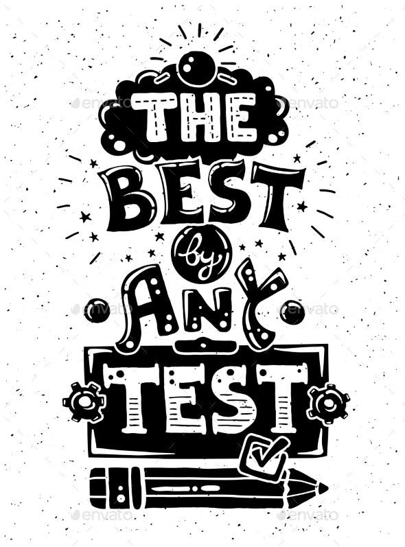Any Test - Illustration with Quote - Backgrounds Decorative