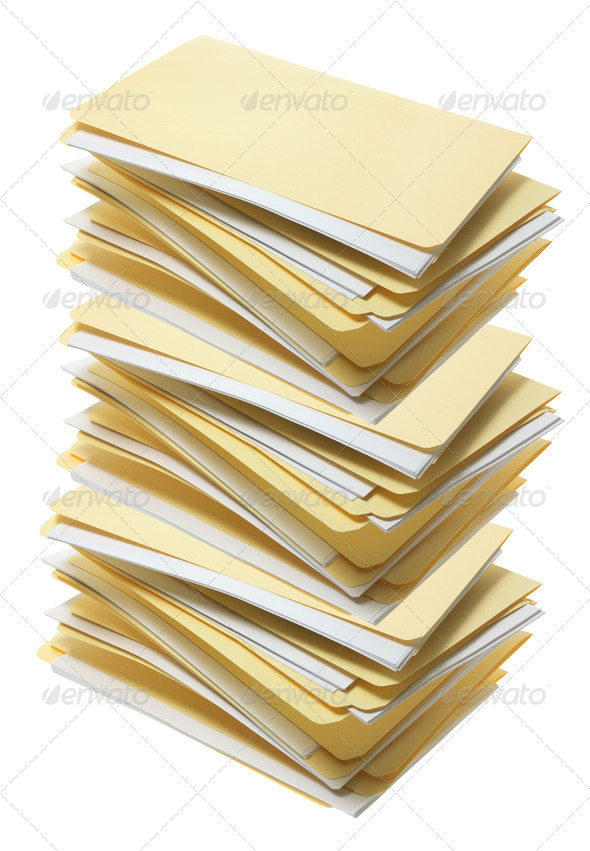 Stack of Manila File Folders - Stock Photo - Images