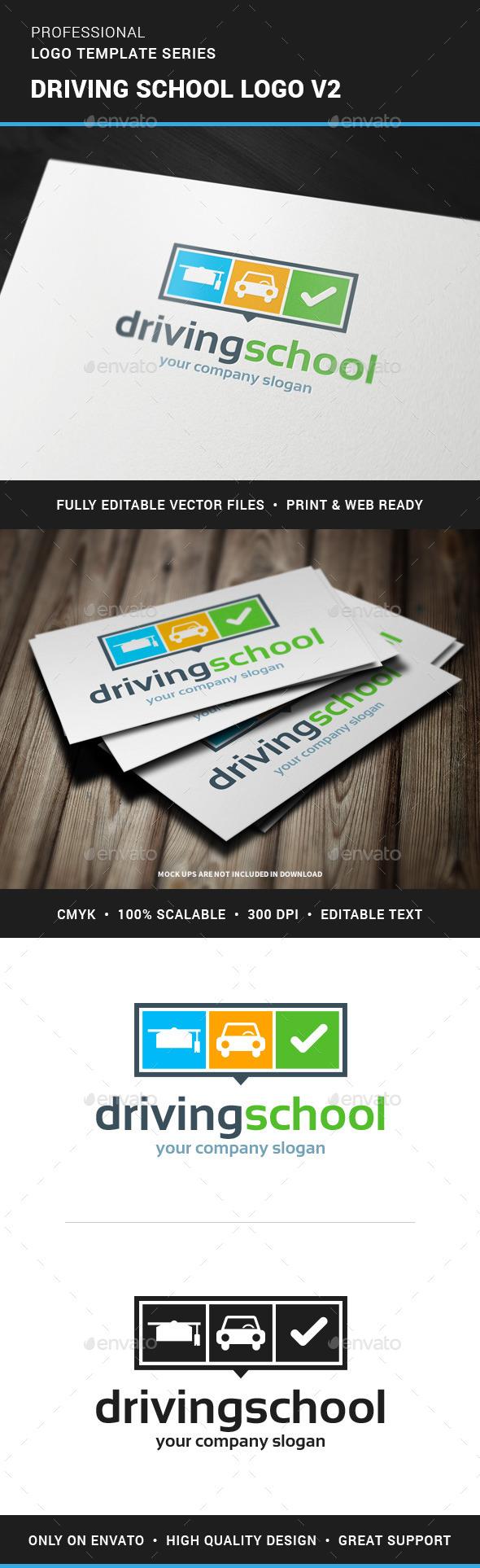 Driving School Logo v2 - Symbols Logo Templates
