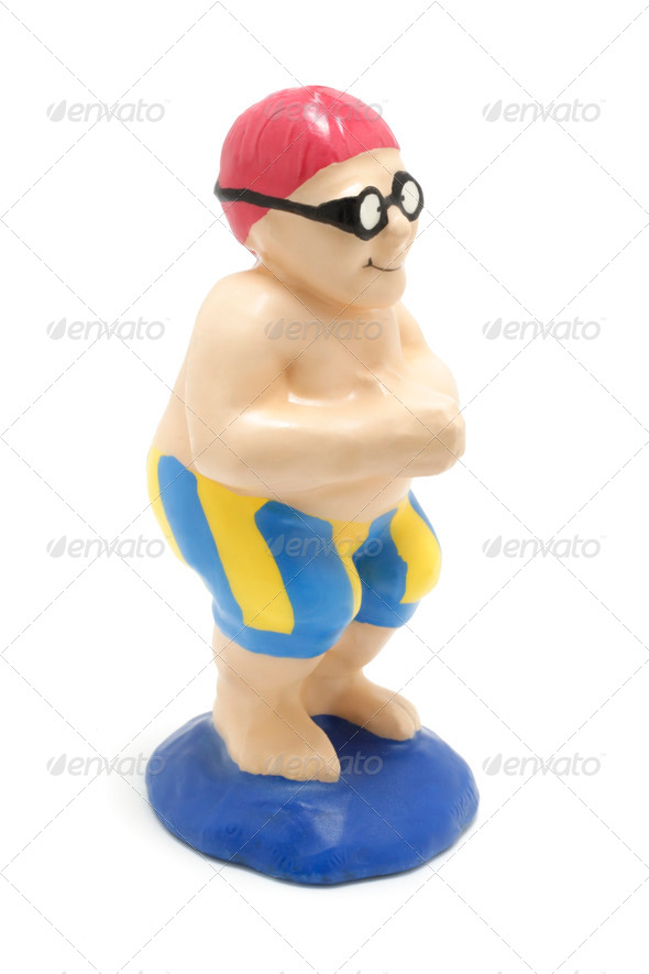 Swimmer Figurine - Stock Photo - Images