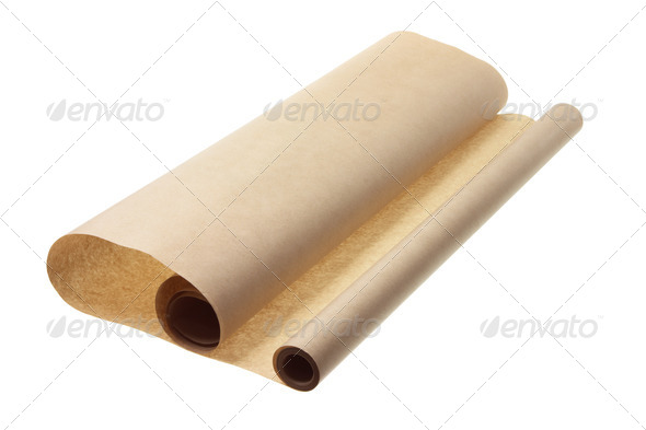 Brown Wrapping Paper - Stock Photo - Images