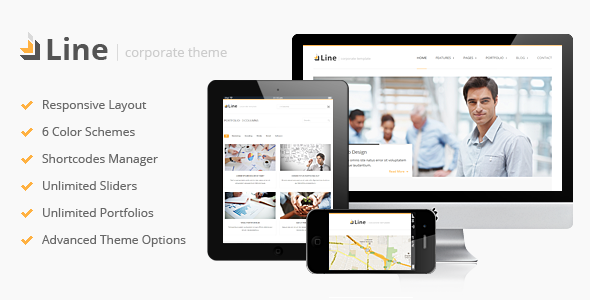 Line – Responsive Corporate WordPress Theme