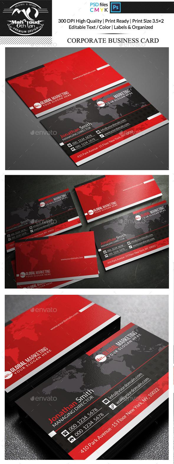 Corporate Business Card  - Corporate Business Cards