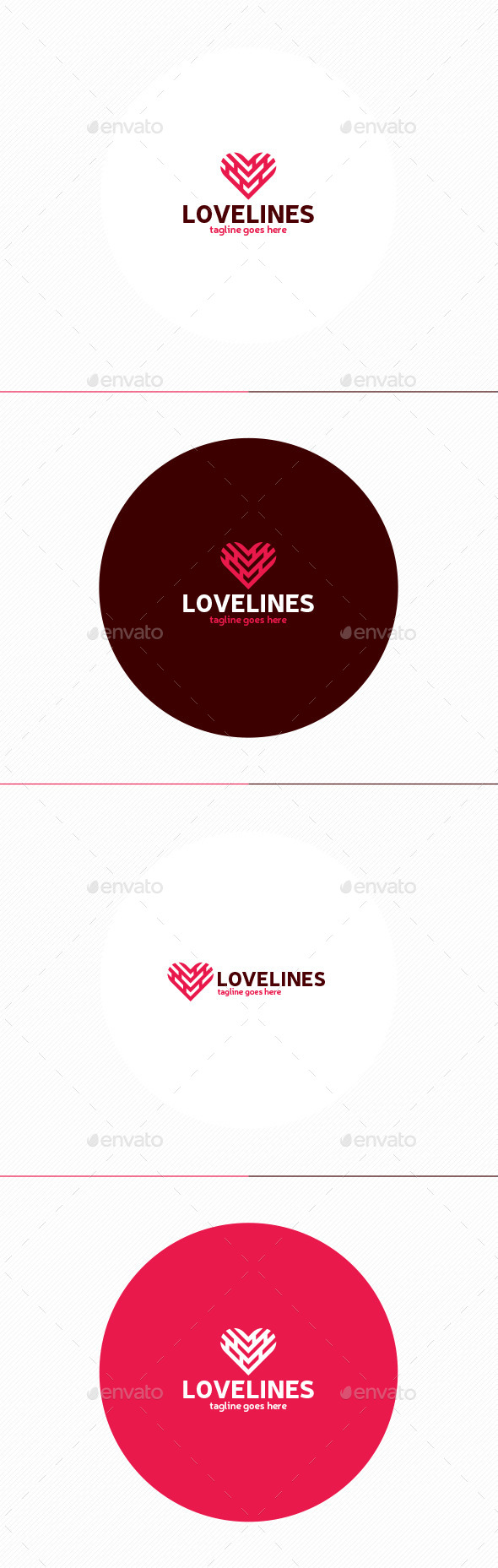 Love Lines Logo - Objects Logo Templates