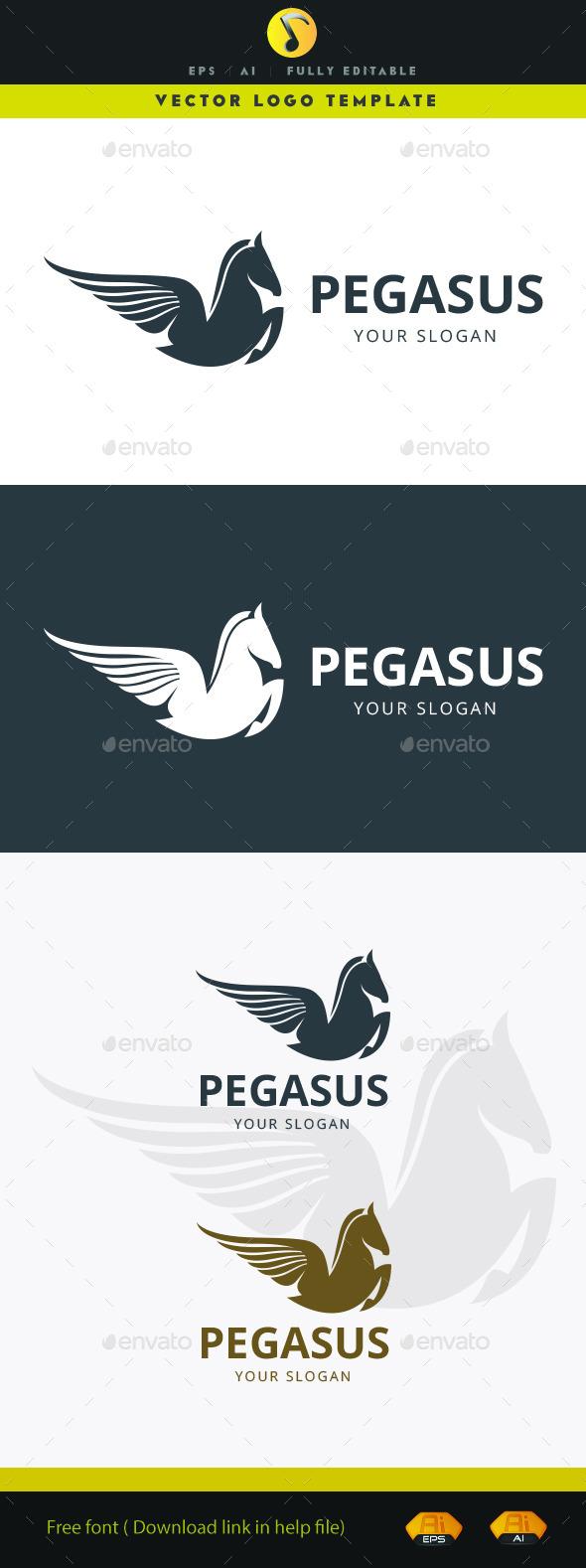 Pegasus - Animals Logo Templates