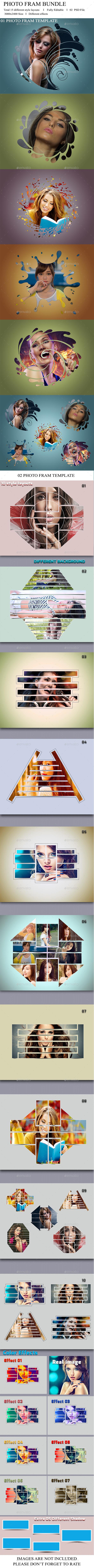 Photo Frame Template Bundle V-01 - Photo Templates Graphics