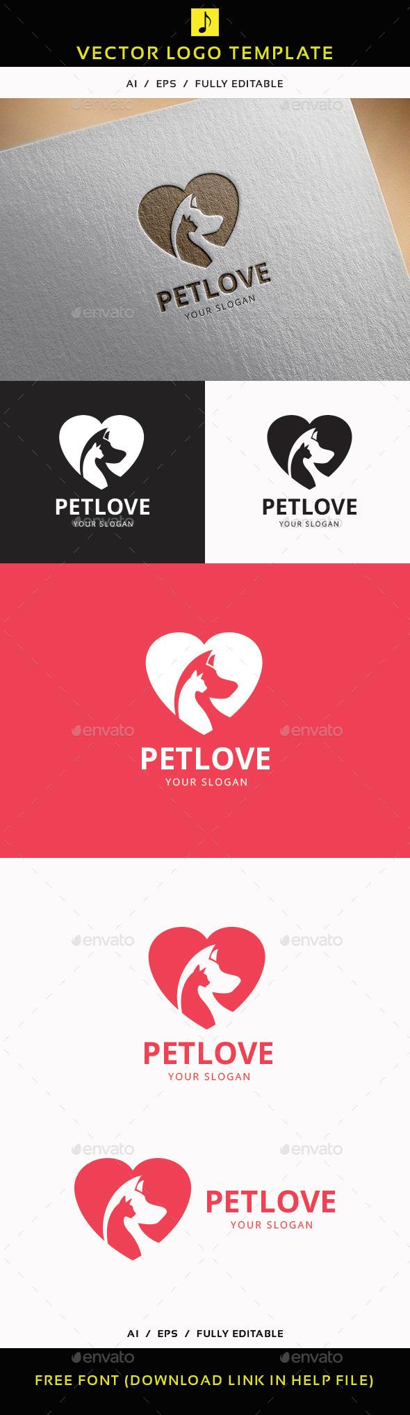 Pet Love - Animals Logo Templates