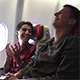 Two Happy Men Talking & Laughing on the Airplane 1 - VideoHive Item for Sale