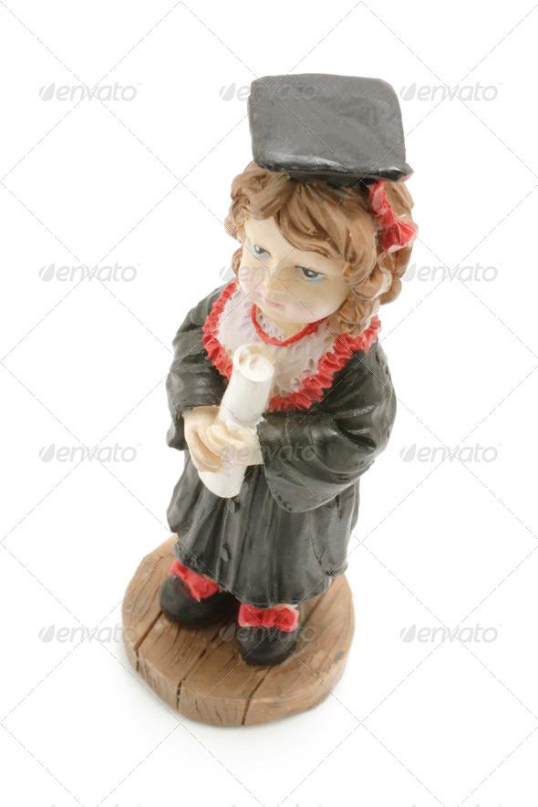 Graduate Figurine - Stock Photo - Images