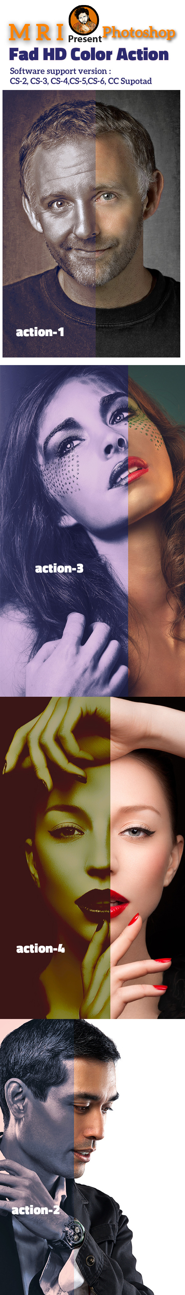 Fad HD Color Action - Photo Effects Actions