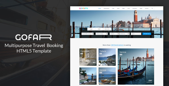 Gofar - Multipurpose Travel Booking Template - Travel Retail