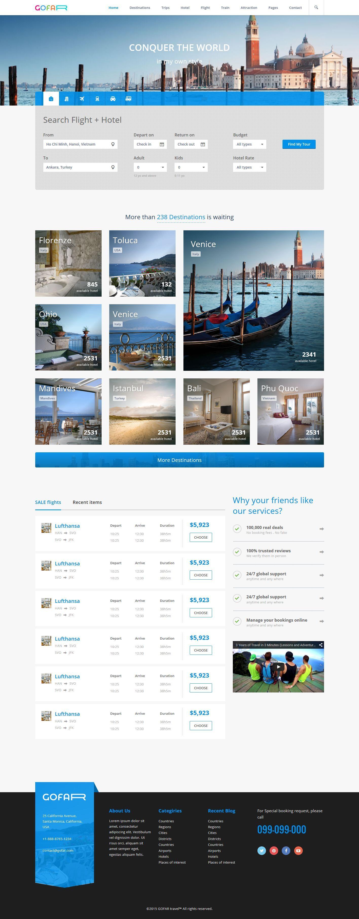 Gofar - Multipurpose Travel Booking Template by megadrupal | ThemeForest