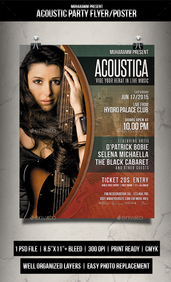Acoustic Flyer / Poster Vol.3 - Events Flyers